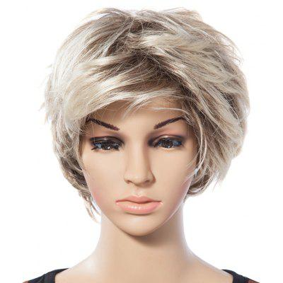 Buy COLORMIX Casual Style Short Natural Straight Mixed Blonde Synthetic Wig For Women for $16.68 in GearBest store