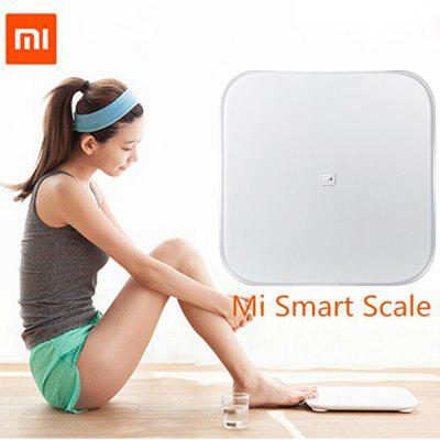 Original XiaoMi Bluetooth V4.0 Mi Smart Weight Scale by 4 x AA BatteryOther Consumer Electronics<br>Original XiaoMi Bluetooth V4.0 Mi Smart Weight Scale by 4 x AA Battery<br><br>Bluetooth Version: V4.0<br>Color: White<br>Package Contents: 1 x Electronic Scale<br>Package size (L x W x H): 35.00 x 35.00 x 3.50 cm / 13.78 x 13.78 x 1.38 inches<br>Package weight: 2.7200 kg<br>Product size (L x W x H): 30.00 x 30.00 x 2.82 cm / 11.81 x 11.81 x 1.11 inches<br>Product weight: 1.9000 kg<br>Waterproof: No