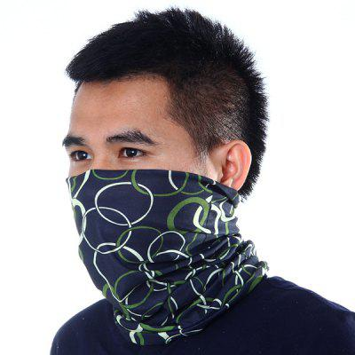 Circle Pattern Kerchief Sun Protective Hood Scarf Outdoor Climbing Cycling Supplies
