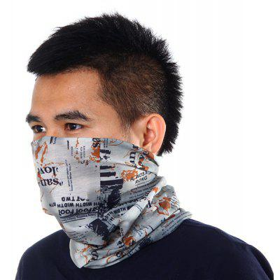 Letters Pattern Kerchief Sun Protective Hood Scarf Outdoor Climbing Cycling Supplies