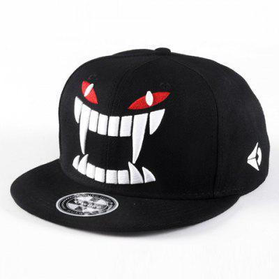Chic Demon Face Embroidery Color Block Baseball Cap For Men