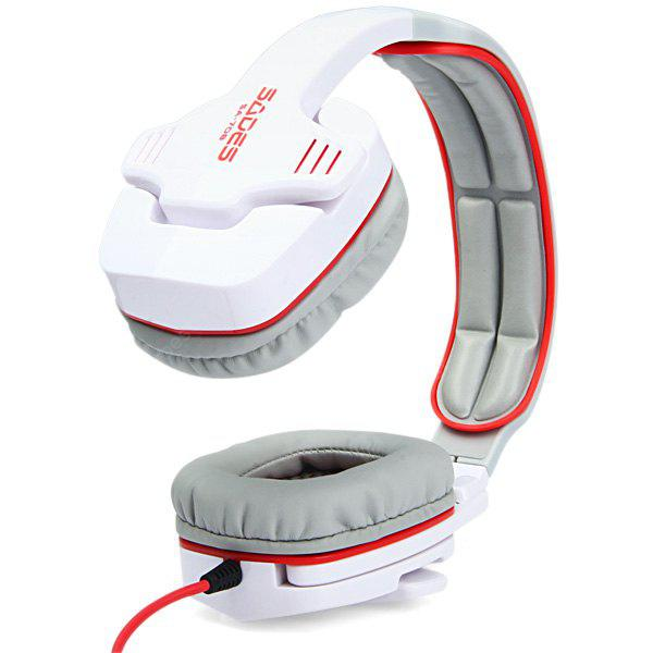 Sades SA - 708 Hi - Fi Wired Over Ear Headphones Head Band Earphones with Microphone and Volume Control