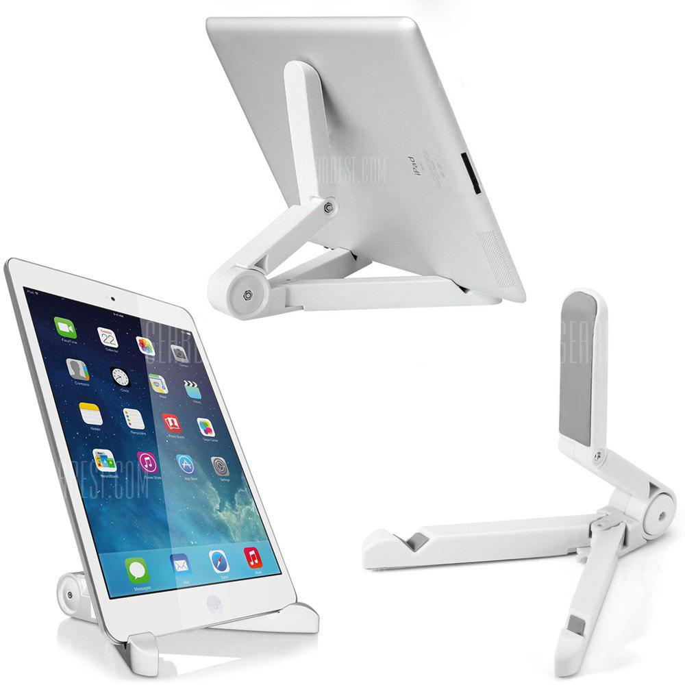 Adjustable 4 - 14 inch Phone Tablet Pad Stand Holder Bracket - WHITE