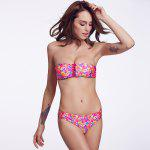 THE FILLE 223Y04309Y04 new fashion popular sexy double-sided wearing two color  bikini set - ROSA