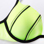 THE FILLE 226312326312 new fashion popular sexy colors hit the color thicken pop cup bikini set - NEON GREEN