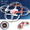 FX  -  21V Headless Mode 2.4GHz 5CH Voice Control RC Quadcopter with Flip Fly Function - RED WITH WHITE