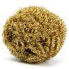 Copper Spiral Scourer Cleaning Ball for Machine Tool + Storaging Box - COPPER COLOR