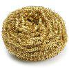 Copper Spiral Scourer Cleaning Ball for Machine Tool - COPPER COLOR