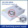 DC 24V 20A 480W Switching Power Supply Driver for LED Ribbon Light - WHITE GOLDEN