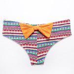 THE FILLE 225800301800 new fashion popular sexy bow hit the color bikini set - ORANGE