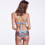 THE FILLE 225609301609 new  fashion popular sexy bow hit the color bikini set - LIGHT BLUE