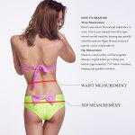 THE FILLE 225607301607 new fashion popular sexy bow hit the color bikini set - PINK