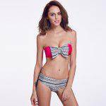 THE FILLE 225Y03301Y03 new fashion popular sexy bow hit the color bikini set - ROSE