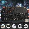 Viboton S1 Rechargeable 2.4GHz Wireless Keyboard with Air Mouse / Remote Control / Touchpad Function for Home Office - BLACK