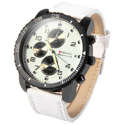 Jubaoli Rotatable Bezel Male Watch Quartz Leather Strap Wristwatch футболка billabong футболка haze tee ss ss17