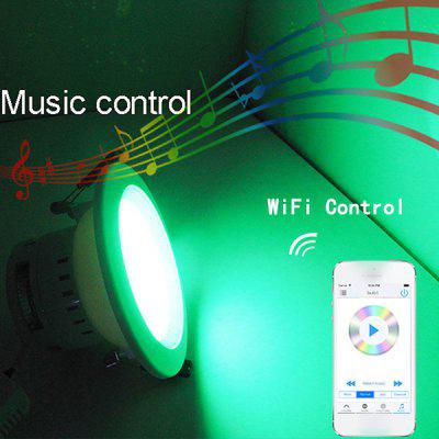 Aoluguya E27 7.5W 3000 - 3200K RGBW Wireless Down Light WiFi Timing LED Ceiling Lamp for Smart Phone Control  - 100  -  240V
