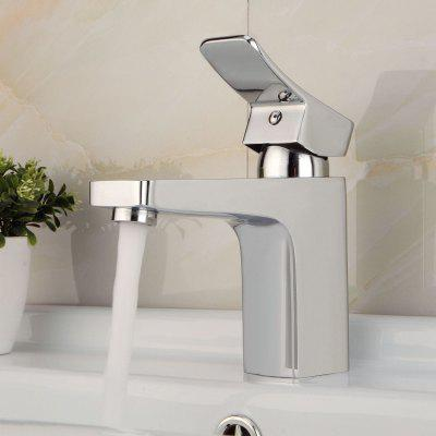 Lidanda Yake Cold and Hot Water Function Design Bathroom Brass Basin Mixer Tap Water Faucet with Single Port