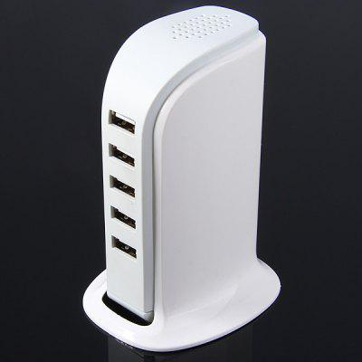 Home Travel Vertical Type 30W 5-portowy adapter USB Power Charger dla iPhone'a / iPada / iPoda