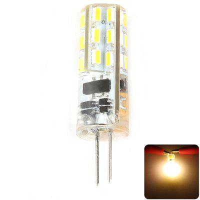Zweihnder G4 1.5W 24 x SMD 3014 120Lm Silicone LED Corn Lamp Crystal Spotlight ( Soft White DC 12V )