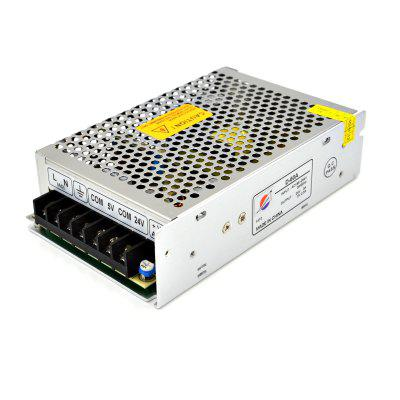 D - 60A 24V / 3A to 5V / 2.5A Switch Power Supply Driver for LED Light and Surveillance Security Camera ( AC 185  -  264V )
