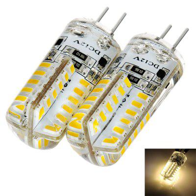 Pair of 140LM G4 2.5W 48 SMD 3014 Mini Silicone LED Corn Light ( Soft White DC 12V )