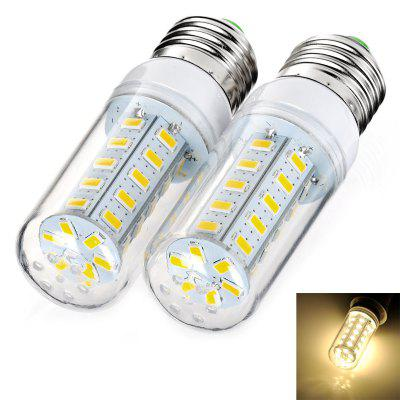 7W E27 36 x SMD 5730 900Lm 3000K LED Corn Light with Clear Sheating ( AC 220 - 240V 1 Pair )