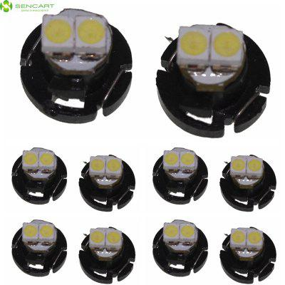 Sencart T4.2 SMD 3528 Daylight LED Car Side Marker Light Dashboard Bulb ( DC 12 - 16V 10 Pcs )