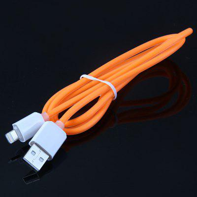 1m 8 Pin Interface Round Cable Charge and Data Transfer Cable