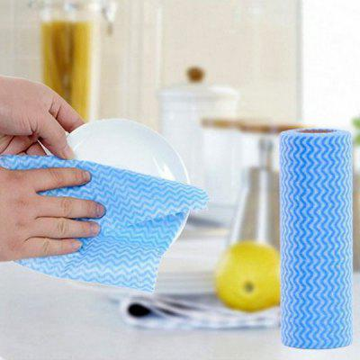 50pcs / Roll Cleaning Cloth Reusable Dishcloth Scouring Pad Kitchen Tools