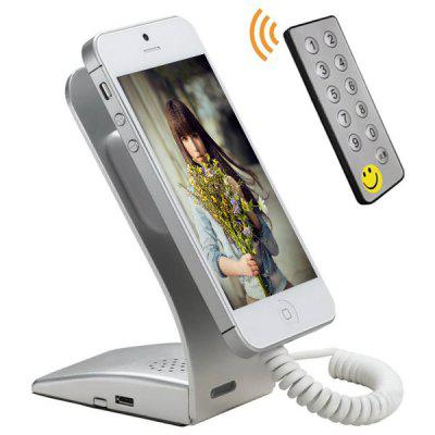 Anti - theft Security Mobile Phone Display Stand Alarm Metal Mount Telescopic Spring Cable Design Holder