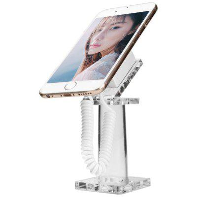 Clear Anti - theft Security Mobile Phone Display Stand Telescopic Spring Cable Design Holder