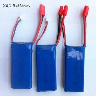 SYMA X8C X8HG RC Quadcopter Spare Part 3Pcs 7.4V 2000mAh Lipo Batteries