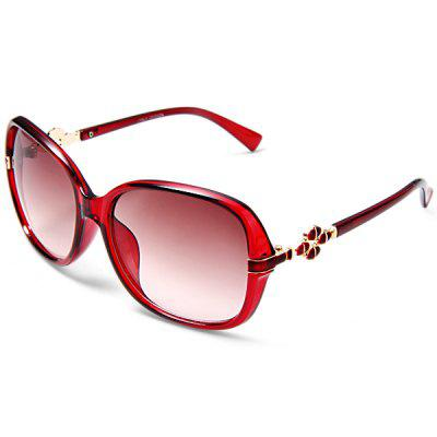 6354  -  140 Outdoor Sports UV400 Anti - UV Lens Wine Red Frame Sun Glasses for Women