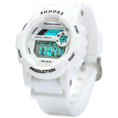 Shhors 833 Water Resistant Sports LED Digital Watch with Date Day Alarm Function Rubber Band