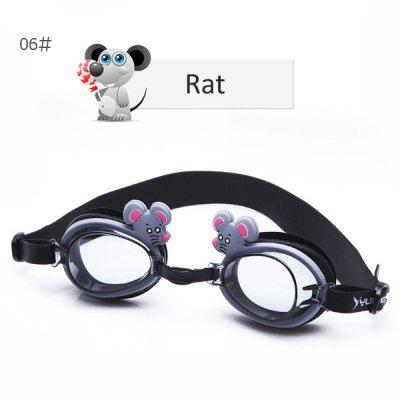 YUKE Unisex Baby Cartoon Anti - fog Swimming Goggles Cute Chinese Zodiac Pattern