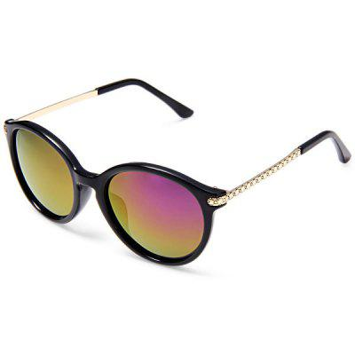 10845 C7 Women Colorful Coating Polarized Lens Plastic Frame Goggles Sun Glasses
