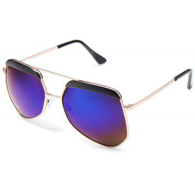 1277  -  C8 Men Coating Colorful Polarized Lens Polygonal Frame Goggles Dual Nose Bridge Sun Glasses
