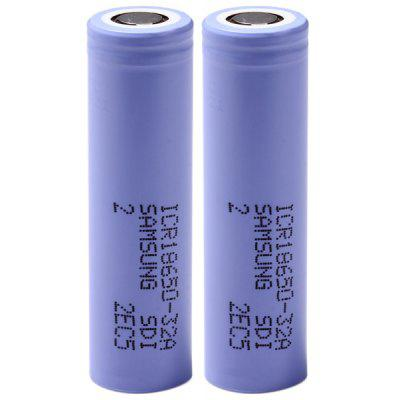 Pair of  3.7V 3200mAh 18650 Rechargeable Li - ion Battery ( ICR18650  -  32A )