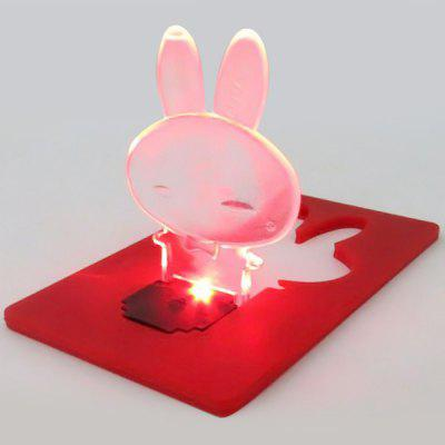 Ultra - slim LED Pocket Rabbit Mini Light Cute Wallet Credit Card Portable Card Lamp