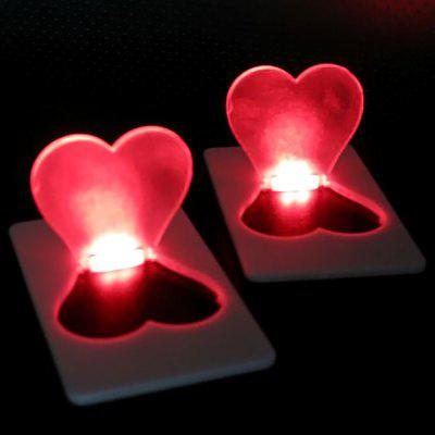 Ultra - slim Heart Shape Credit Card Light Fold - up LED Pocket Wallet / Purse Lamp