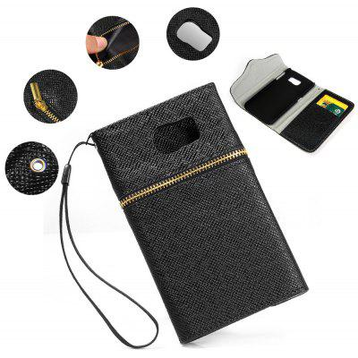 Magnetic Snap PU Leather Cover Case Wallet Card Holder for Samsung Galaxy S6 G9200