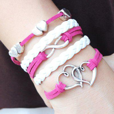 Infinity Layered Hollowed Heart Design Bracelet