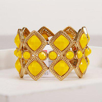 Chic Rhinestone Elastic Design Bracelet For Women
