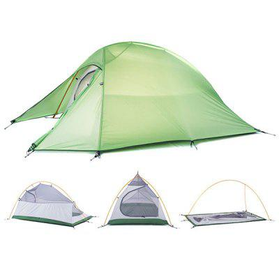 Naturehike NH15T002  -  T Professional Double Layer Camping Water Resistant Tent 190T Nylon Made for 2 Persons