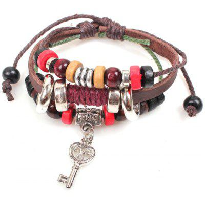 Cute Colored Beads Key Pendant Design Bracelet For Women