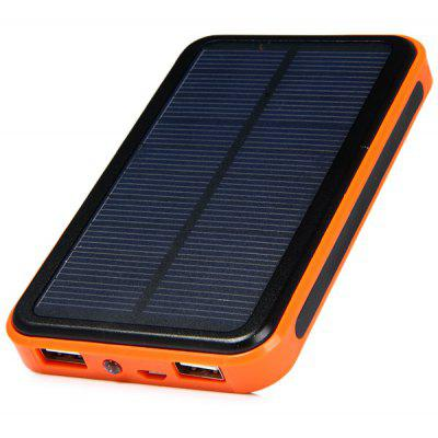48000mAh High Capacity Solar Charger Mobile Power Bank with Double USB Outputs Flashlight