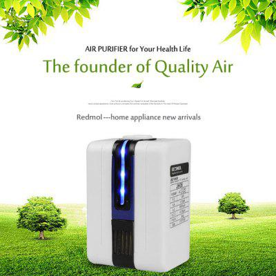 Buy BLUE AC 110 220V Mini Negative Ion Air Purifier Home Anion Air Cleaner Refresher for $10.12 in GearBest store
