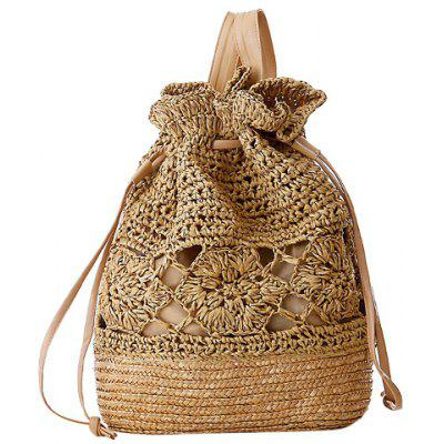 Preppy Hollow Out and Weaving Design Women's Satchel