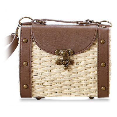 Rivets Design Splice Shoulder Bag For Women
