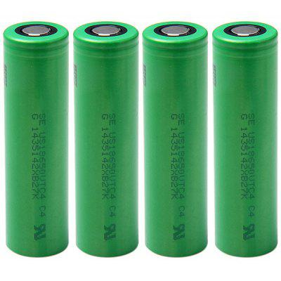 US18650VTC4 18650 3.7V 2100mAh Rechargeable Li - ion Battery 30A Discharge  -  4 pcs